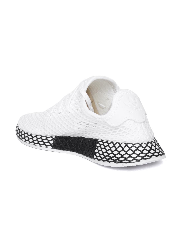 sale retailer 0c96e c6642 Adidas Originals Kids White DEERUPT Runner Sneakers