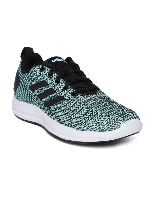 f79ad0a17b Buy ADIDAS Women Green & Black ADISTARK 3.0 Woven Design Running ...