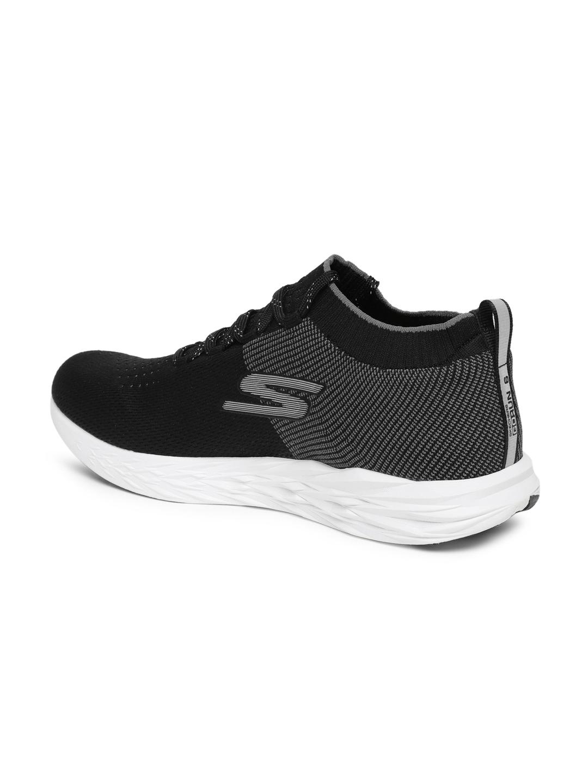 36a1fbc30dac Buy Skechers Men Go Run 6 Black Running Shoes - Sports Shoes for Men ...