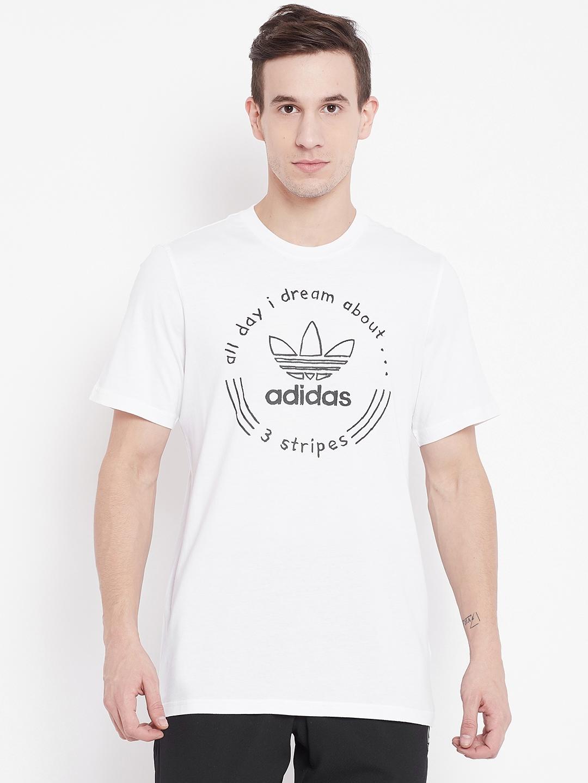 100% authentic 381c8 d1ea2 Buy Adidas Originals Men White Hand Drawn T4 T Shirt - Tshirts for ...