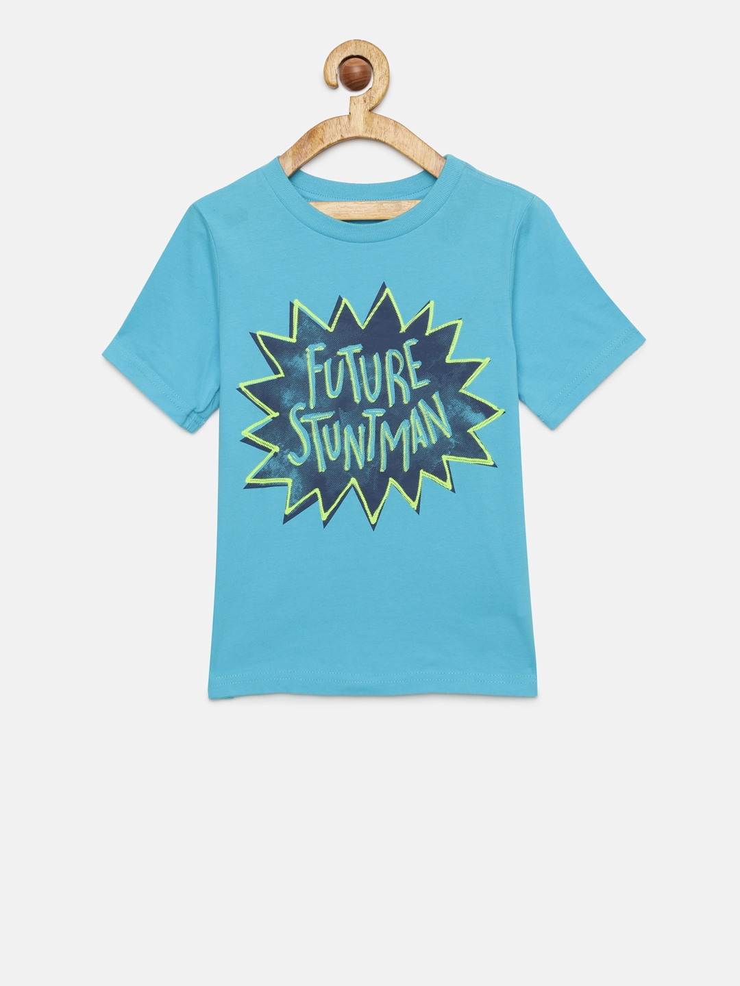 3fef64a7 Buy The Childrens Place Boys Blue Printed Round Neck T Shirt ...