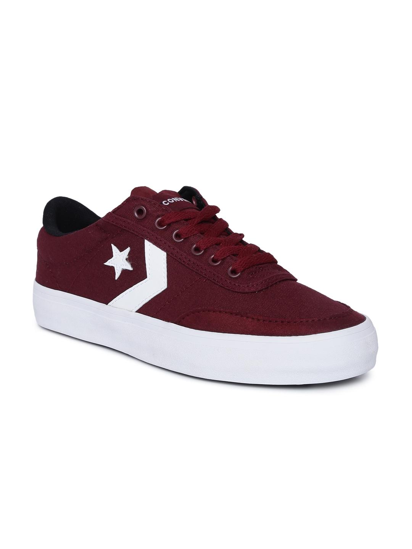Buy Converse Unisex Burgundy Sneakers