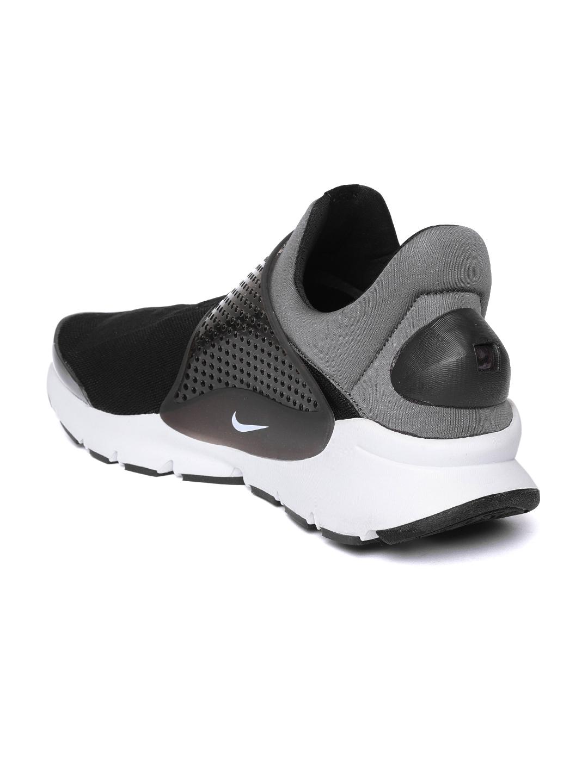 the latest 01b9b 3141c Nike Men Black   Grey Sock Dart Running Shoes
