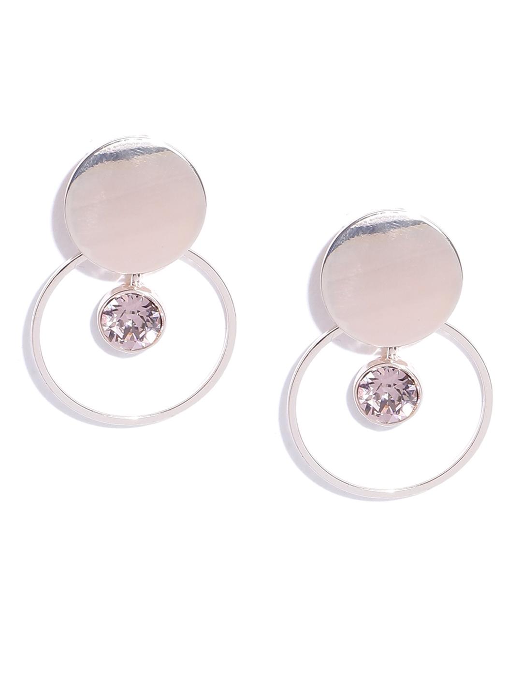 9e0e9ee05 Accessorize Gold-Toned Swarovski Crystal Studded Circular Drop Earrings