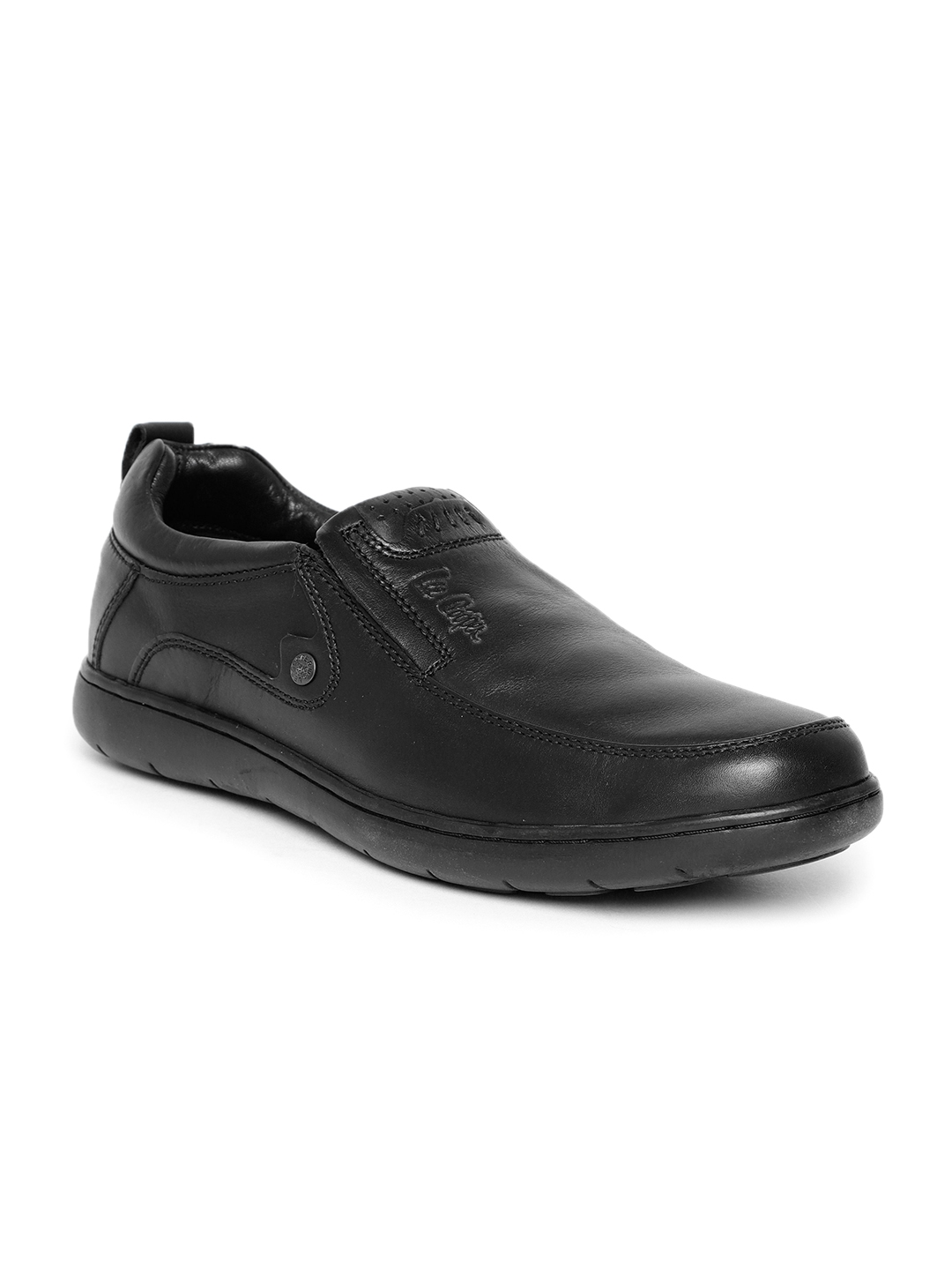 daca1c8b2ce Buy Lee Cooper Men Black Leather Slip On Sneakers - Casual Shoes for ...