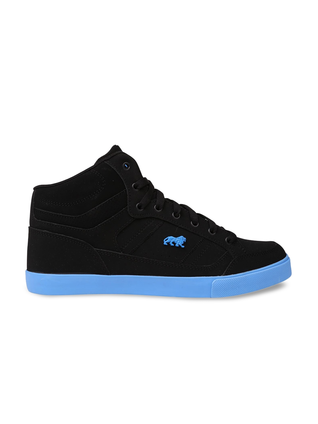 40ecda0a98a9 Buy Lonsdale Men Black And Blue Leather High Top Training Or Gym ...
