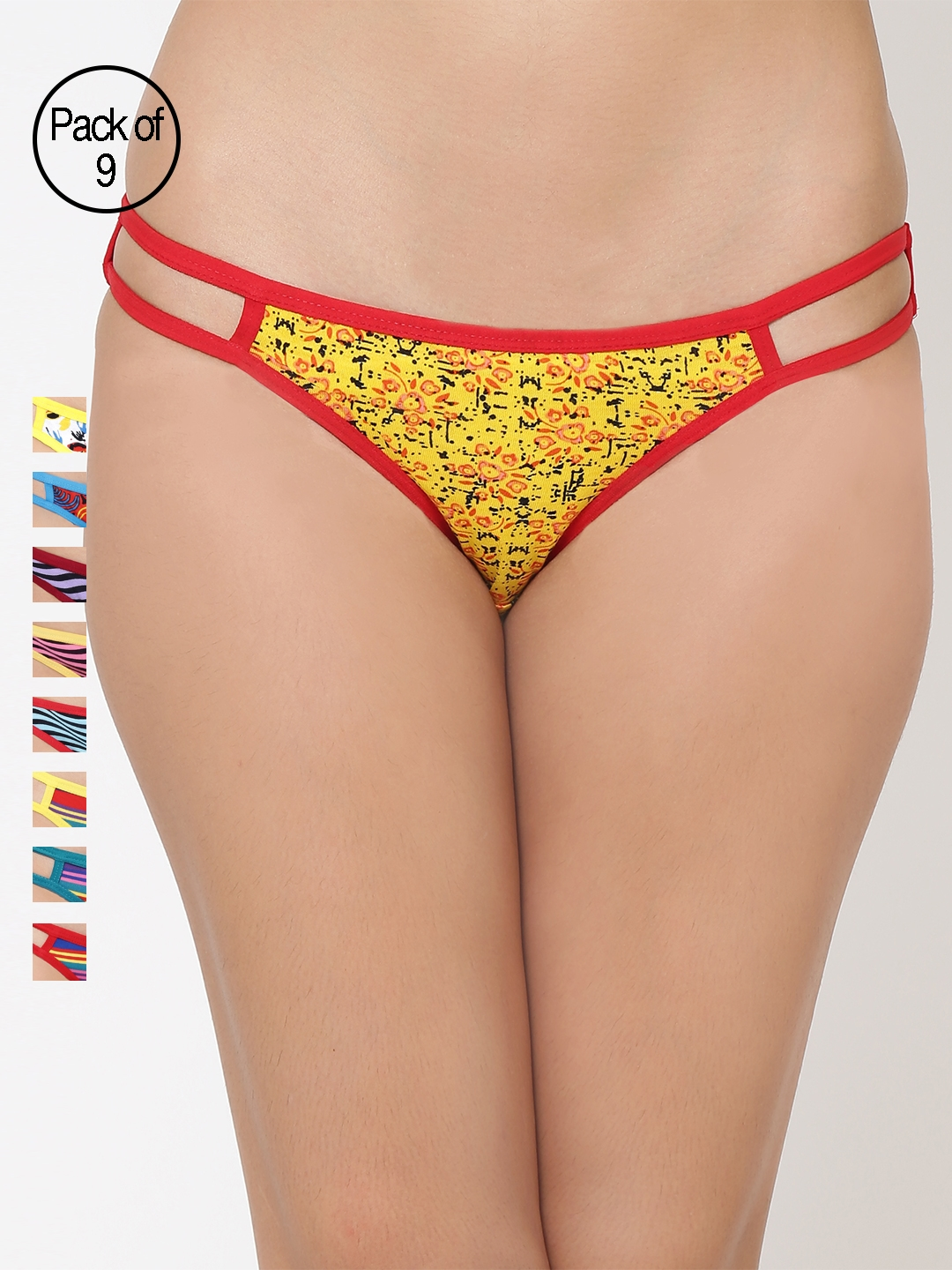 Leading Lady pack of 9 colorful briefs