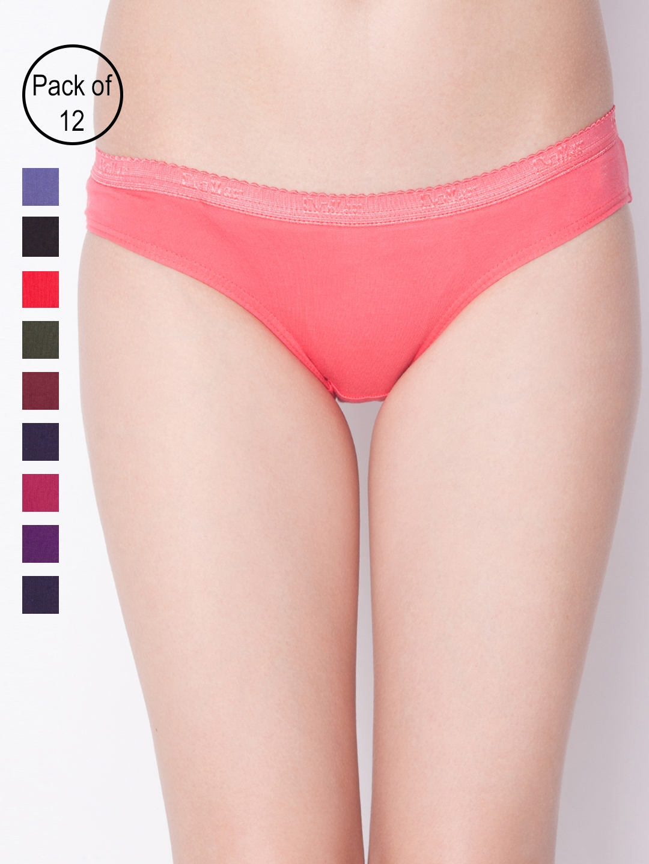 Dollar Missy Womens Pack of 12 Assorted Bikini Briefs 201S OE PO12