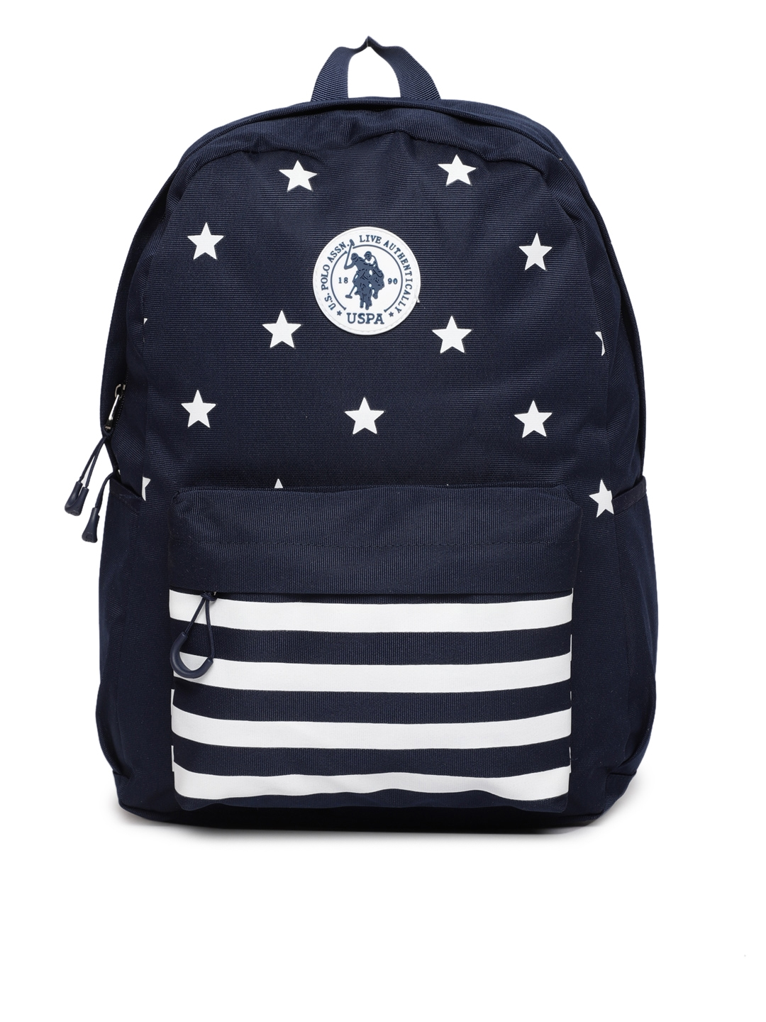 56a7dcaafc4 Buy U.S. Polo Assn. Men Navy Blue Graphic Backpack - Backpacks for ...