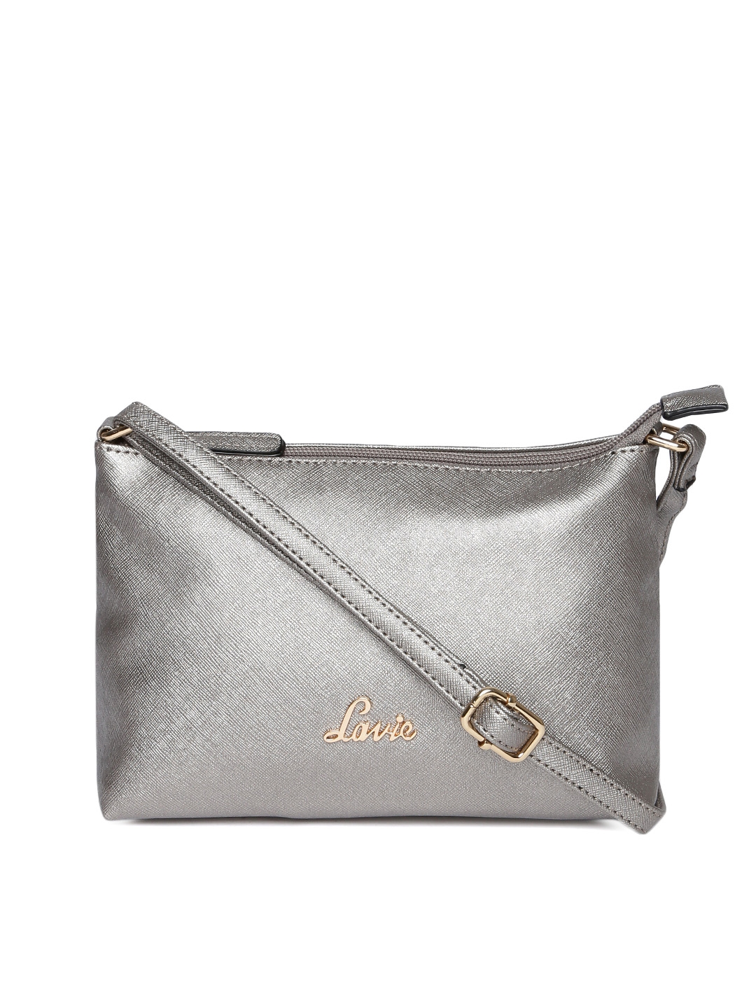 83ed1a5dc19 Buy Lavie Silver Toned Solid Sling Bag - Handbags for Women 8057533 ...
