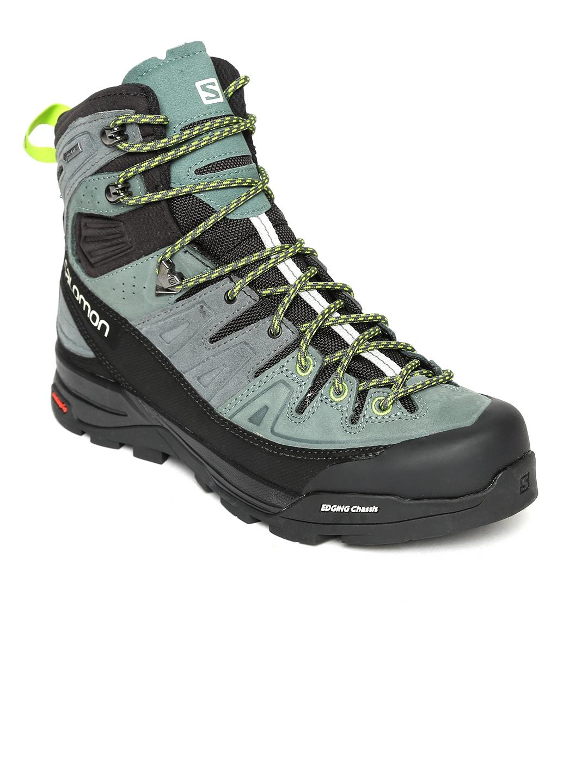 3a0be4e87d25 Buy Salomon Men Olive Green X ALP LTR GTX Leather High Top Trekking ...