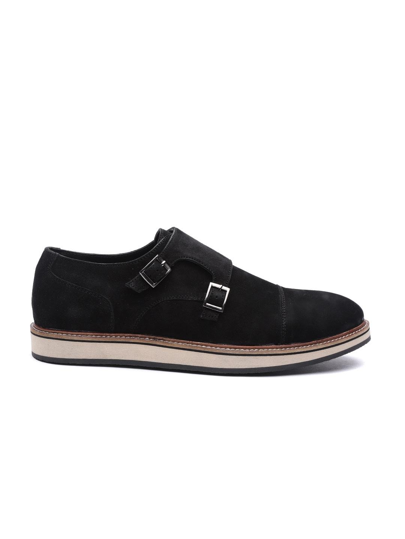 80982f9c26a Buy Carlton London Men Black Suede Monks - Casual Shoes for Men ...