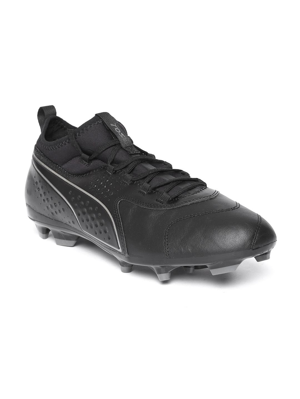 ca5d3037f5f9 Buy Puma Men Black One 3 Lth FG Textured Football Shoes - Sports ...