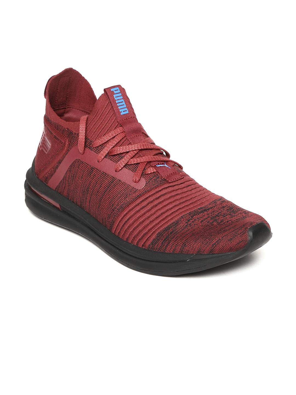 32bd534fef0 Buy Puma Men Maroon IGNITE Limitless SR EvoKNIT Running Shoes ...