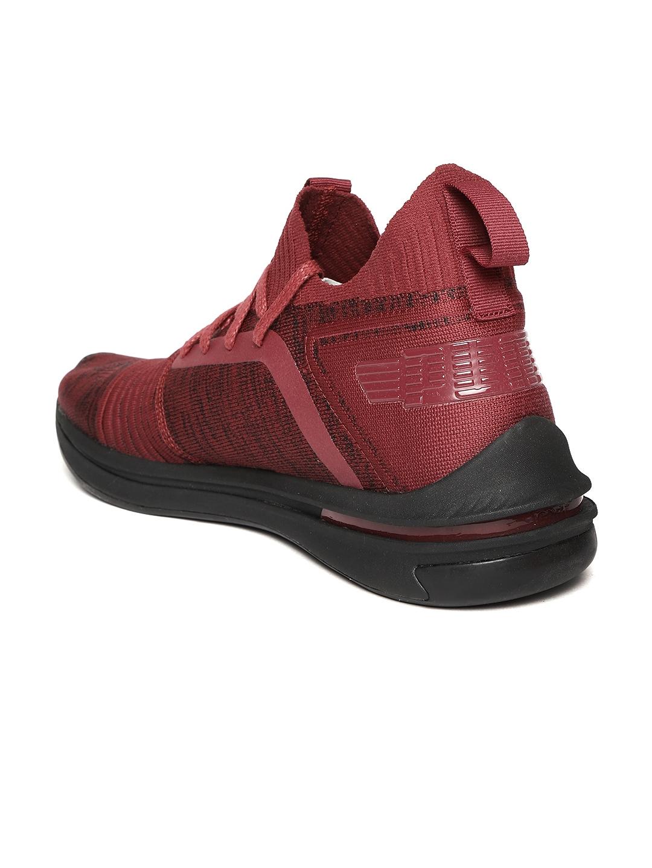 339b1395d227 Buy Puma Men Maroon IGNITE Limitless SR EvoKNIT Running Shoes ...
