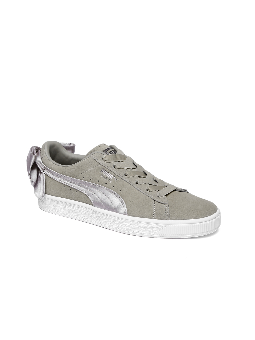 Buy Puma Women Green Solid Bow Suede Sneakers - Casual Shoes for ... ca508858f