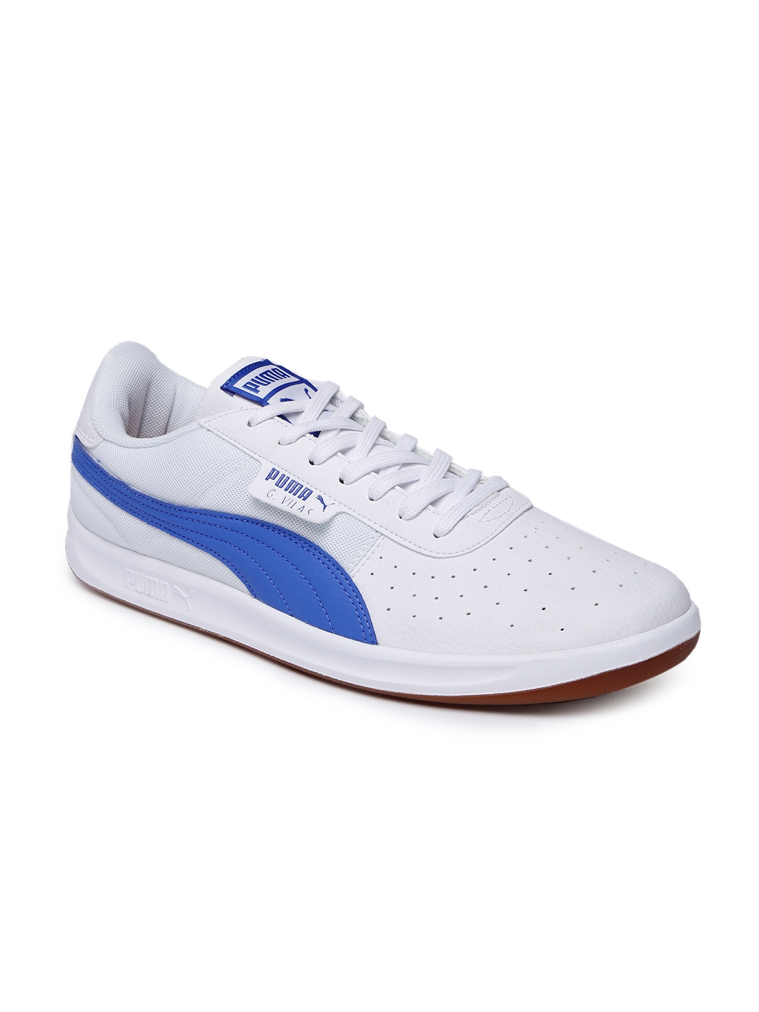 47681bca4fac Buy Puma Men G. Vilas 2 Core IDP White   Blue Sneakers - Casual ...