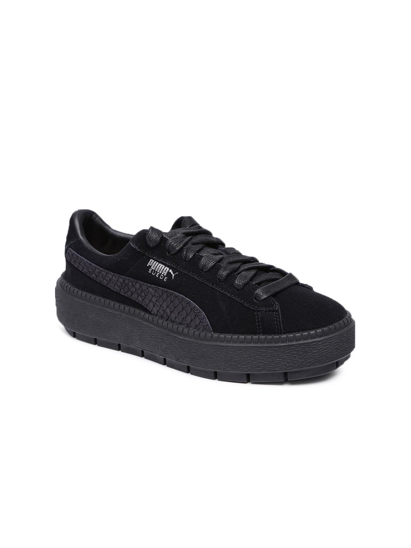 cf4199139c11 Buy Puma Women Suede Platform Trace Animal Black Sneakers - Casual ...