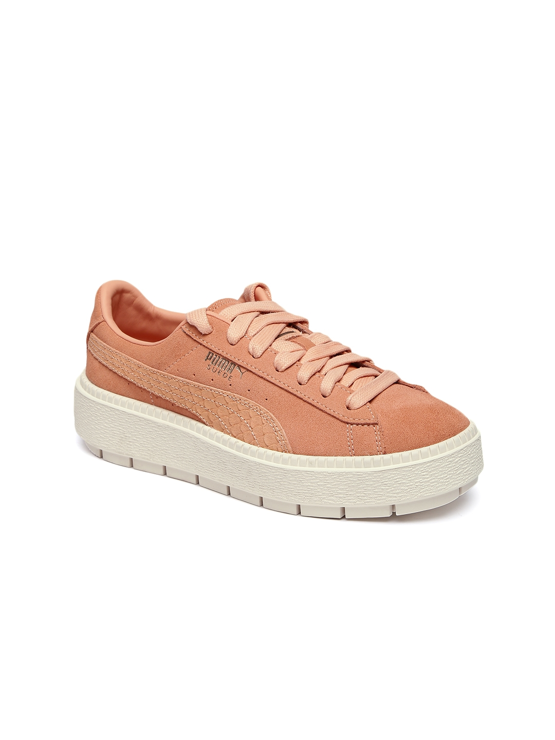 e17495f4f351 Buy Puma Women Coral Suede Platform Trace Animal Sneakers - Casual ...