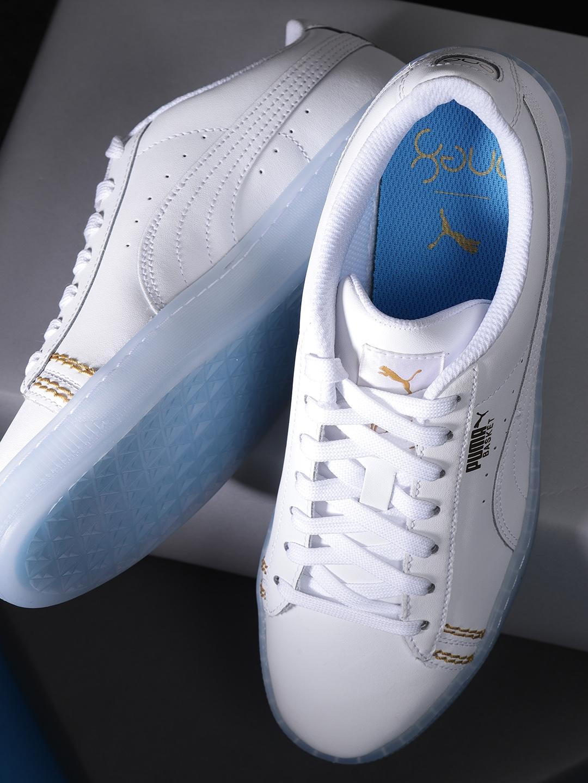 new concept 3d3e9 a50d2 Puma Unisex White Basket Classic one8 Sneakers