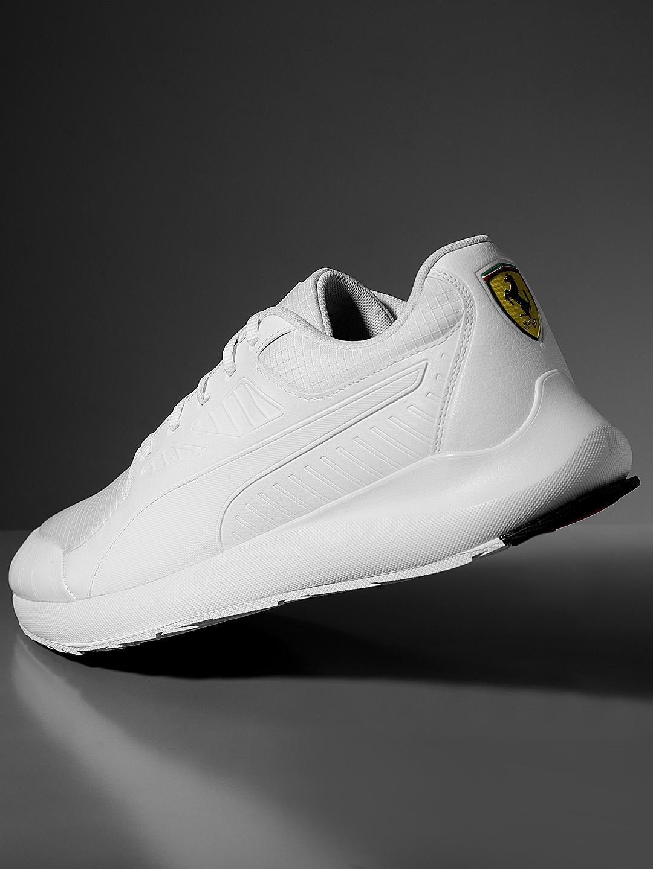 Buy Puma Unisex White Scuderia Ferrari Evo Cat II Sneakers - Casual ... 386ffa90b