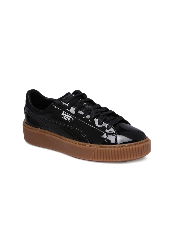 19b77fb90296 Buy Puma Women Black Basket Platform Sneakers - Casual Shoes for ...