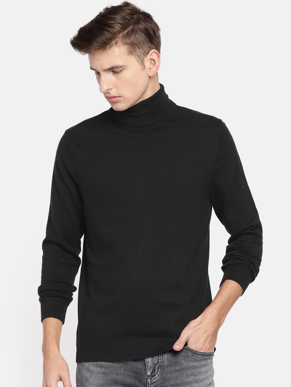 37eeb590fab Buy Calvin Klein Jeans Men Black Solid Pullover - Sweaters for Men ...