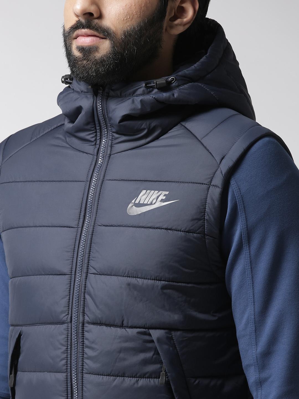 5e5c2c919 Buy Nike Men Navy Blue 806864 451 Hooded Padded Jacket - Jackets for ...