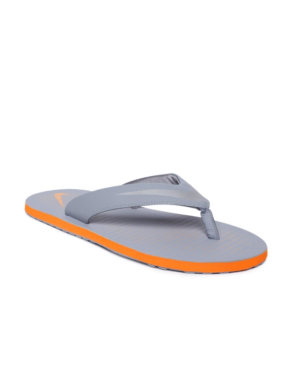 0c2a692881a Buy Nike Men Grey Solid CHROMA THONG 5 Thong Flip Flops - Flip Flops ...