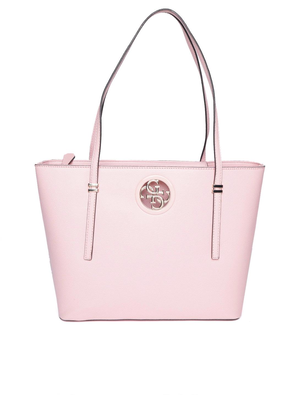 Buy GUESS Pink Solid Shoulder Bag - Handbags for Women 8112457   Myntra 34ea047434