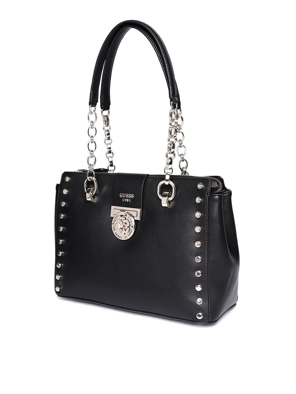 dc7cf1ab26f7 Buy GUESS Black Solid Shoulder Bag - Handbags for Women 8112755