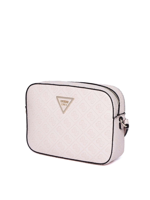 Buy GUESS Off White Textured Sling Bag - Handbags for Women 8112929 ... 2d9e1ff79e