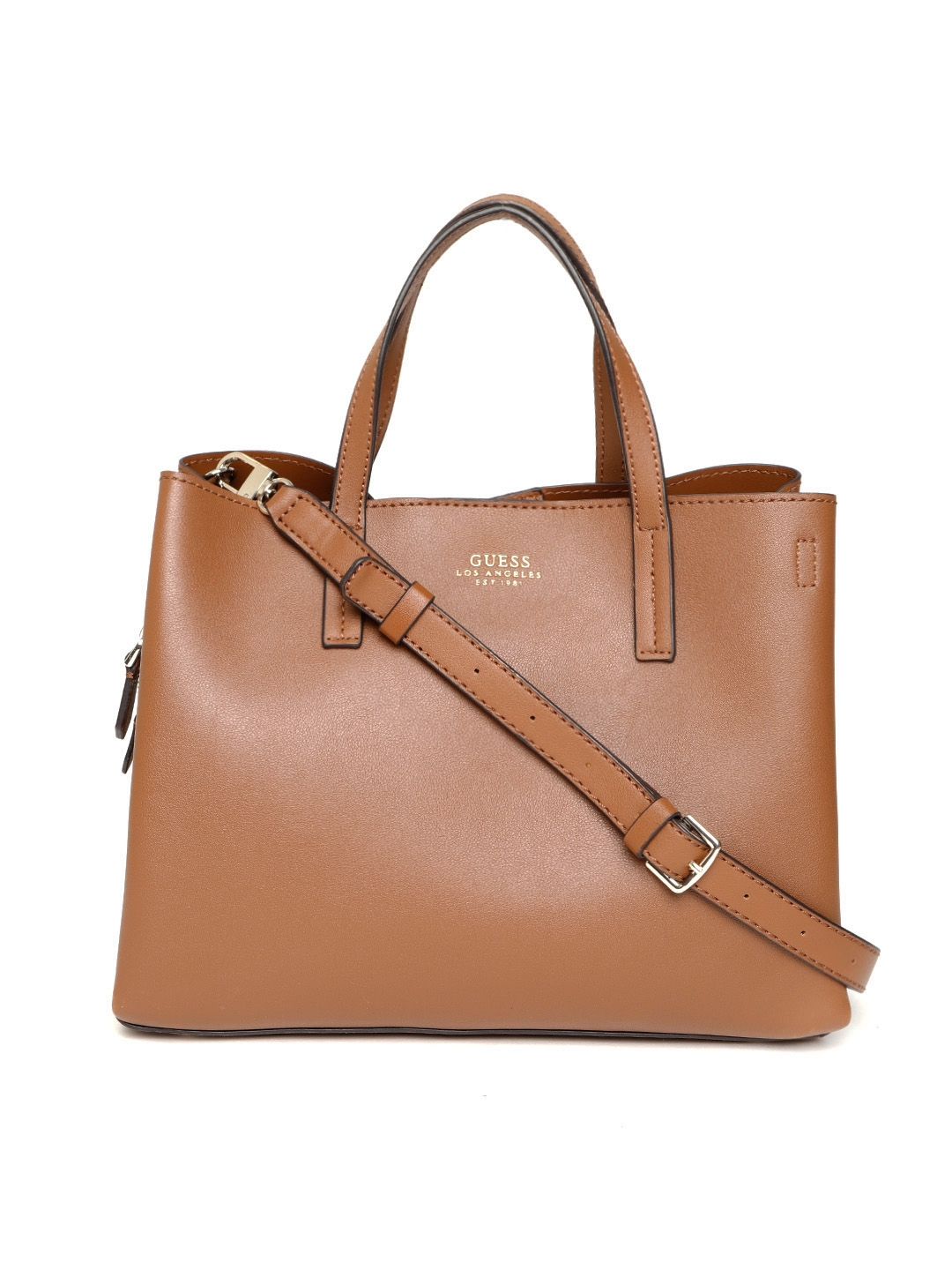 Buy GUESS Brown Solid Handheld Bag - Handbags for Women 8113089  01f7a2bc552d8