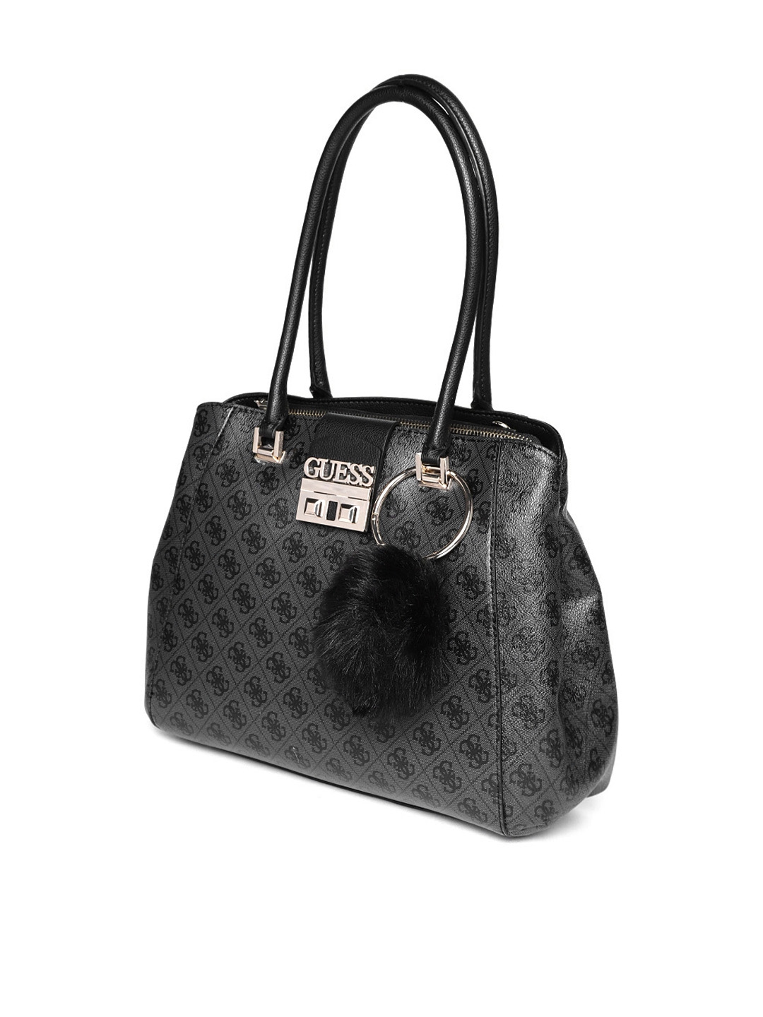 Buy GUESS Black Printed Shoulder Bag - Handbags for Women 8113111 ... bc794d065e067