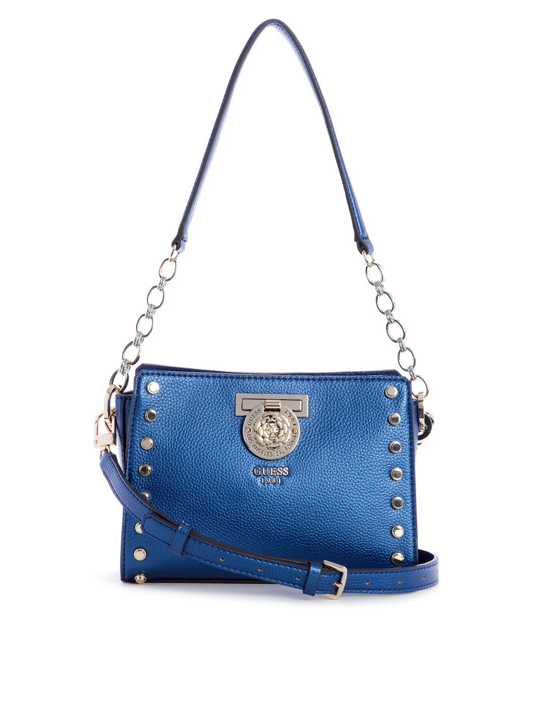 Buy GUESS Blue Solid Shoulder Bag - Handbags for Women 8113119  a81a781e27fe8