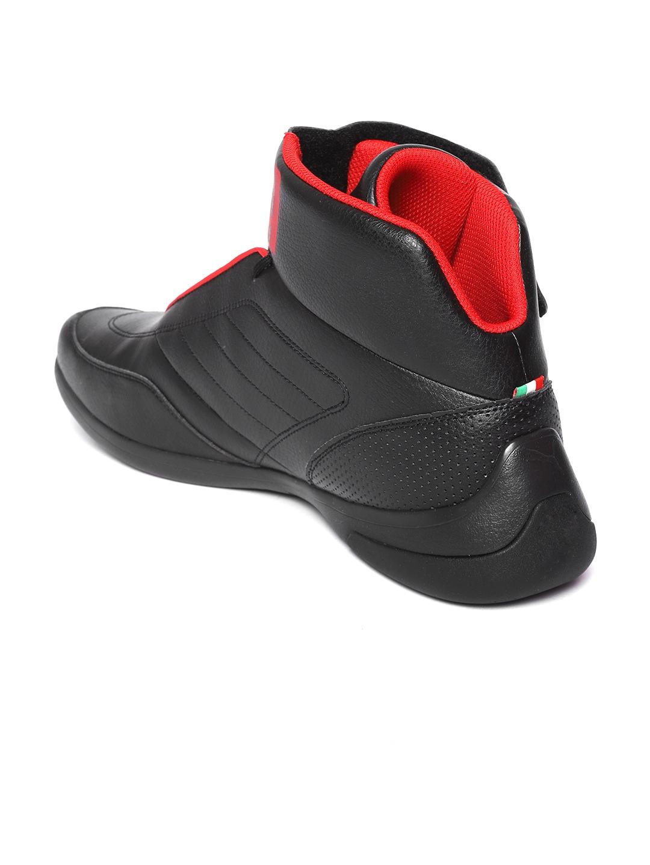 6bb744a0b Puma Men Black Scuderia Ferrari Kart Cat Mid III Mid-Top Sneakers