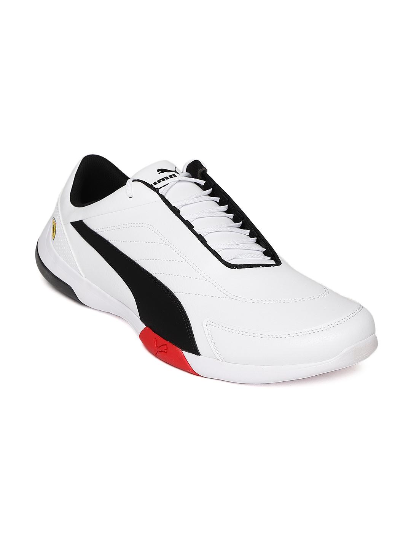 aba7cb6d5 Buy Puma Men White Scuderia Ferrari Kart Cat III Sneakers - Casual ...