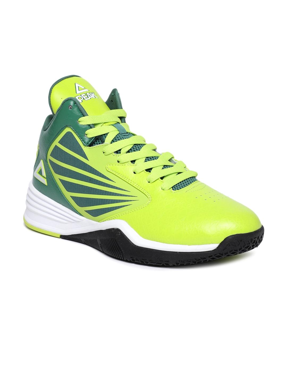 3fc91edcd5b7 Buy PEAK Men Green Basketball Shoes - Sports Shoes for Men 8130703 ...