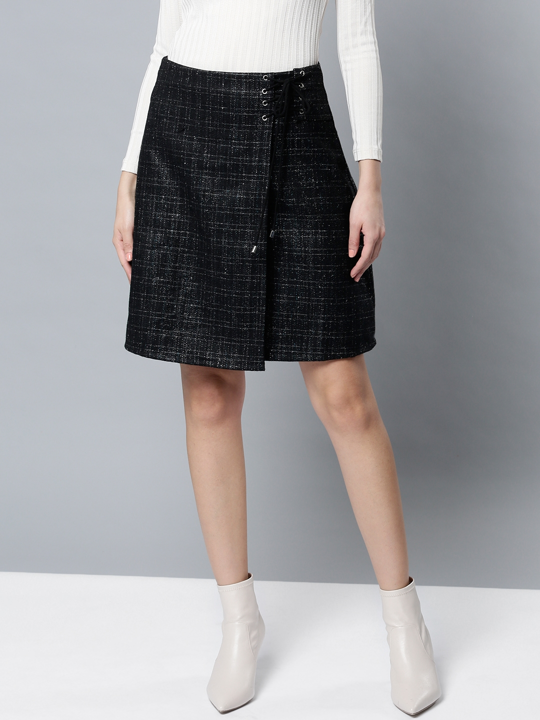 b57274d2eb Denim Wrap Skirt Black | Huston Fislar Photography