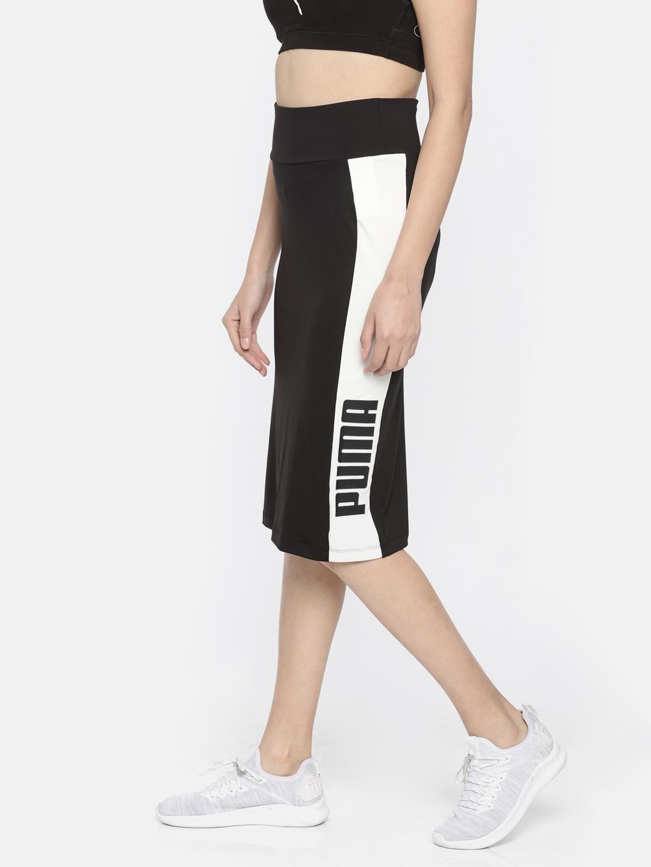 e2e8075450 Buy Puma Women Black Colourblocked Archive Logo Pencil Skirt ...