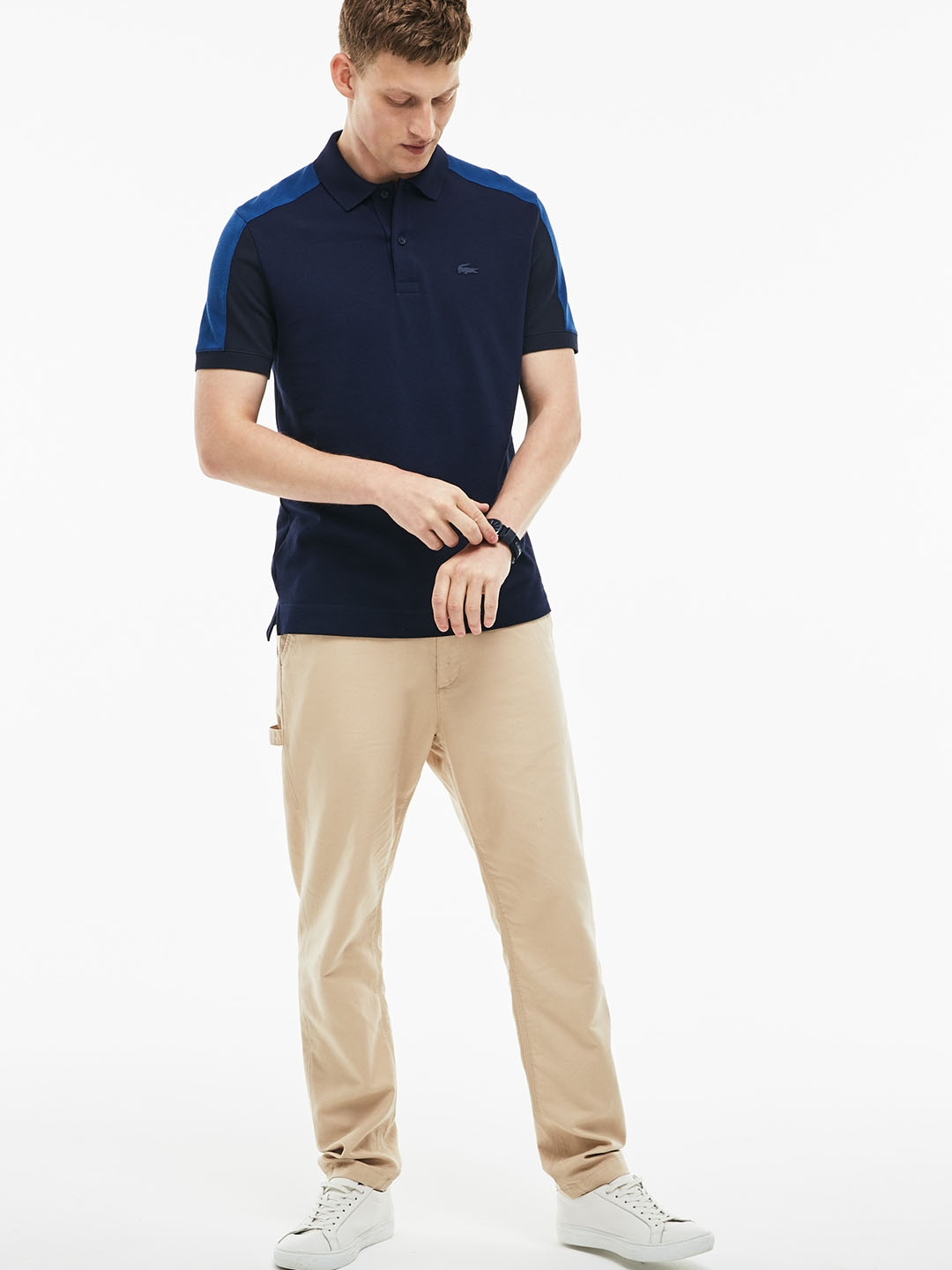 1f171848 Buy Lacoste Men Navy Blue Solid Polo T Shirt - Tshirts for Men ...