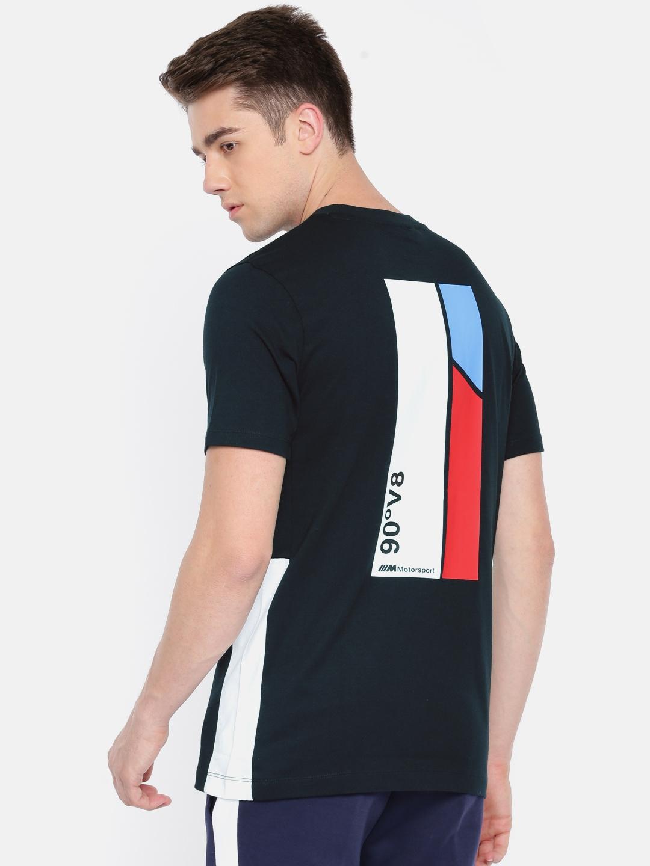 4a1d340863a Buy Puma Men Black Printed BMW MMS Life Graphic Round Neck T Shirt ...