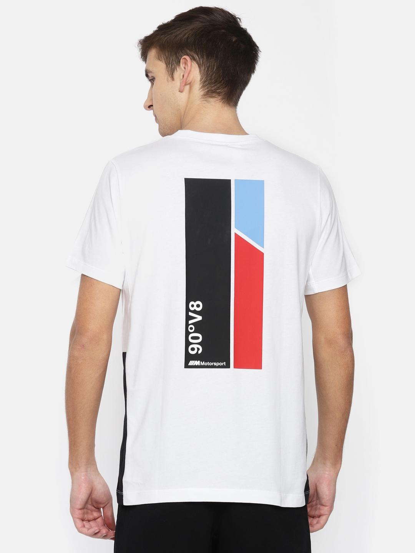 fab9ff6db08 Buy Puma Men White Solid BMW MMS Life Graphic T Shirt - Tshirts for ...