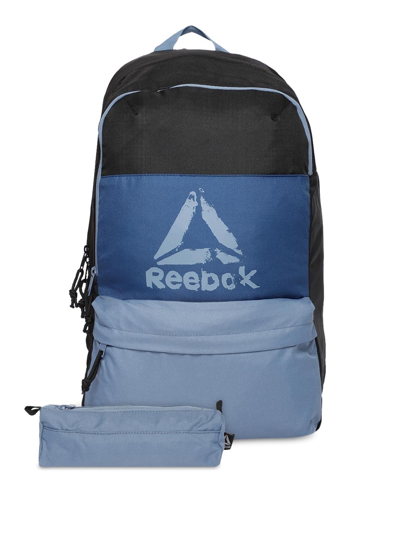 Buy Reebok Kids Black   Blue Colourblocked Backpack - Backpacks for ...
