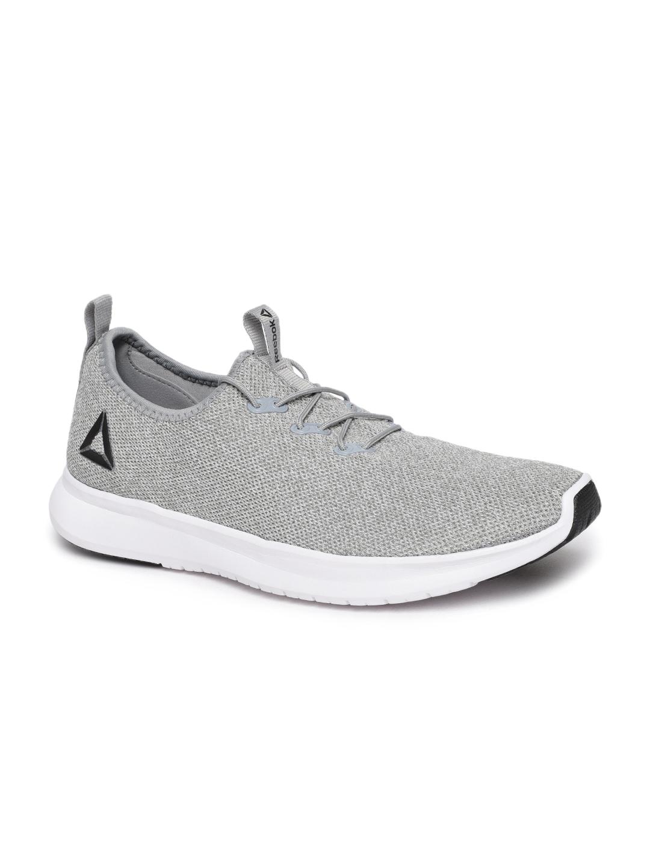 63b8f6918 Buy Reebok Men Off White   Grey PISTON Running Shoes - Sports Shoes ...