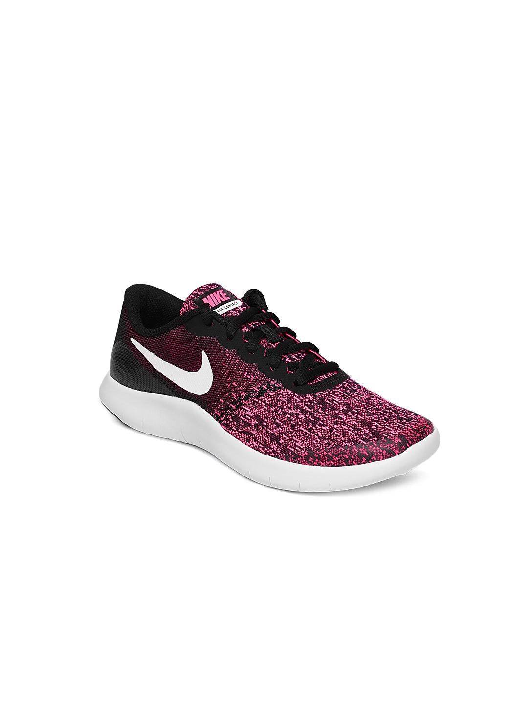 1ba36377ed1 Buy Nike Girls Black   Pink Printed Flex Contact Running Shoes ...