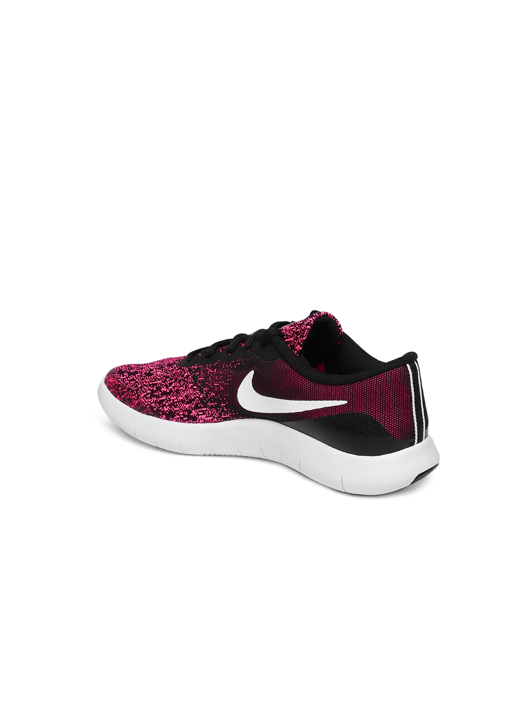 7aabf11686195 Buy Nike Girls Black   Pink Printed Flex Contact Running Shoes ...