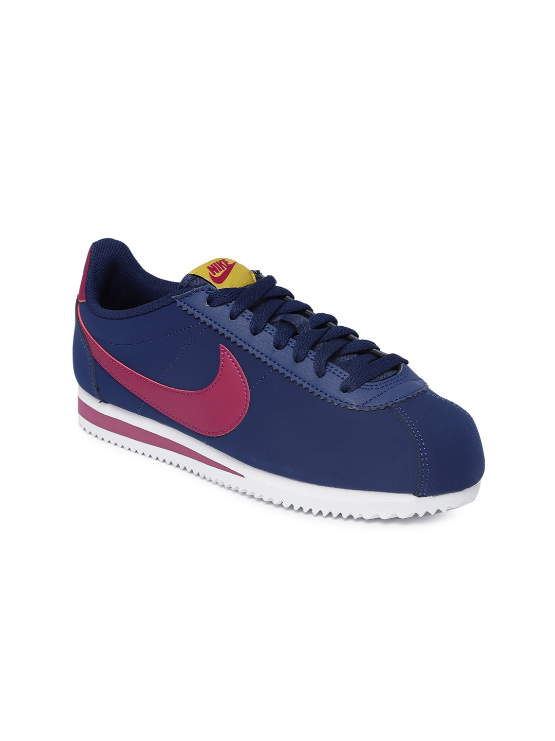 online store c11f6 ba748 Buy Nike Women Blue CLASSIC CORTEZ Leather Sneakers - Casual Shoes ...