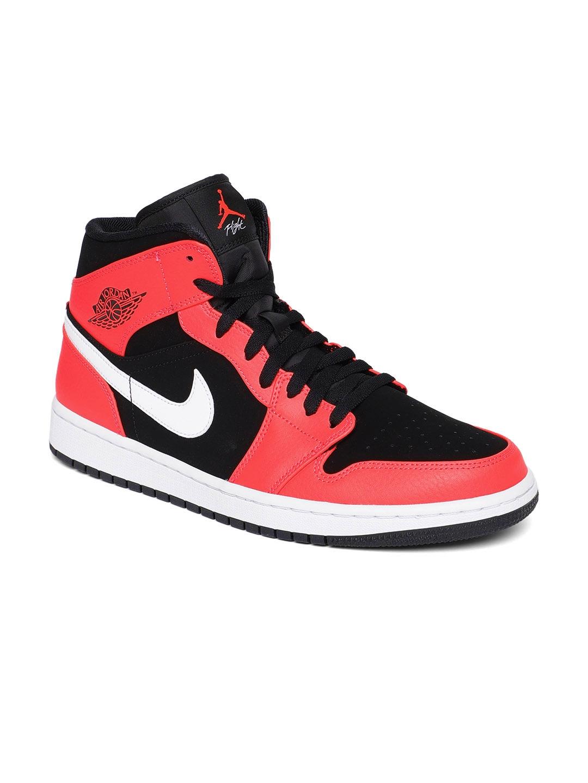 Buy Nike Men Black Leather Air Jordan 1