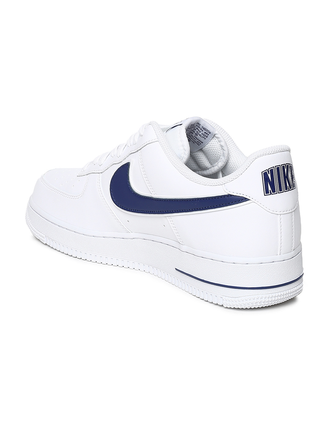 info for 20093 1a96c Nike Men White Air Force 1  07 3 Leather Sneakers